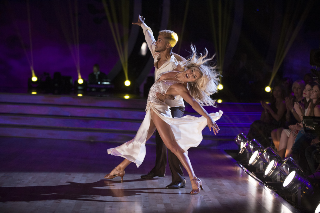 "DANCING WITH THE STARS - ""Episode 2502"" - The 13 celebrities dance to some of the most classic ballroom styles that everyone knows and loves, as Ballroom Night comes to ""Dancing with the Stars,"" live, MONDAY, SEPTEMBER 25 (8:00-10:01 p.m. EDT), on The ABC Television Network. Each couple will perform timeless favorites, including a quickstep, waltz, tango, foxtrot or Viennese waltz, vying for America's vote. At the end of the night, the first elimination of the season will take place. (ABC/Eric McCandless) JORDAN FISHER, LINDSAY ARNOLD"